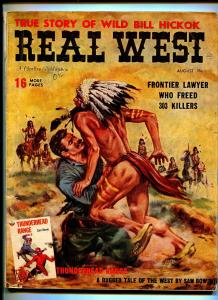 REAL WEST AUGUST 1959-CHARLTON-WILD BILL HICKOK-TEXAS RANGERS-VG-