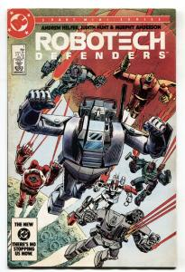 Robotech Defenders #1 1985 DC comic book First issue Macross VF