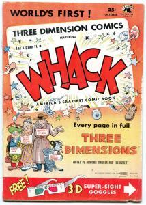 WHACK THREE DIMENSION COMICS #1-3-D-RARE-KUBERT ART VG