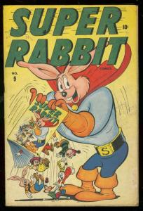 SUPER RABBIT #9 1946-INFINITY COVER VG-