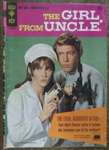 GIRL FROM U.N.C.L.E. (Gold Key, 1/1967) #1 FAIR. Photo Cover Comic! UNCLE
