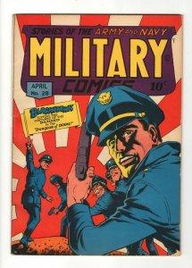 Military Comics #28, VF/VF+(8.5), 1944, Colophon Publishing, Classic Cover