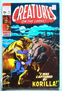 Creatures on the Loose 91971)  #12  Good  2 Tear