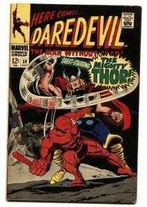 DAREDEVIL #30 THOR COVER-COLAN 1967-MARVEL COMICS-VG