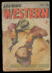 LEADING WESTERN PULP JAN 1947-AIR BRUSH STYLE COVER ART FR/G