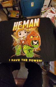 He-man I have the power large tee shirt