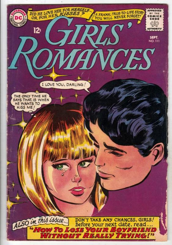 Girls' Romances #111 (Sep-65) VG+ Affordable-Grade