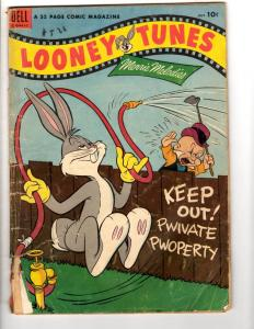 Looney Tunes # 141 VG- Dell Golden Age Comic Book Bugs Bunny Daffy 1953 JL9