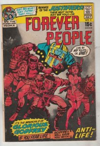 Forever People #3 (Jul-71) VG Affordable-Grade Big Bear, Beautiful Dreamer, S...