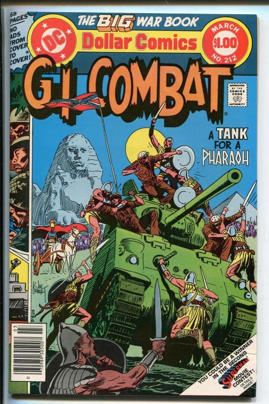 G.I. COMBAT #212 1979-DC-THE HAUNTED TANK-JOE KUBERT-GLANZMAN-EGYPT-SPHINX--nm