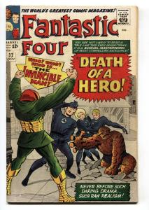 FANTASTIC FOUR #32 VG comic book 1964-MARVEL-JACK KIRBY-DEATH OF A HERO