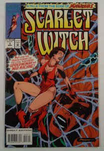 Scarlet Witch #3 VF Front/Back Cover Photos Marvel 1994