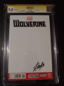 Wolverine #1 - Sketch Cover - Signed by STAN LEE - 9.8 CGC