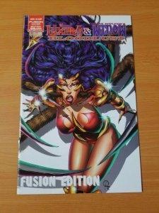 Luxura & Widow Blood Lust Omega #1 Fusion ~ NEAR MINT NM ~ (1996, Brainstorm)