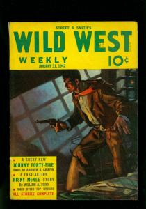 Wild West Weekly Pulp January 31 1942- Rusty McKee- Johnny Forty-Five FN-