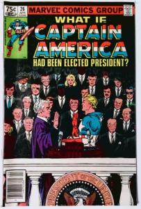 WHAT IF #26, VF/NM, Captain America was elected President, 1977 1981, Marvel