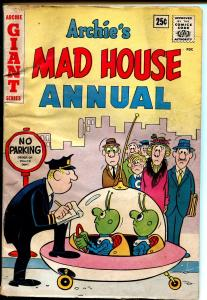 Archie's Mad House Annual #1-1962-flying saucer-Betty-Veronica-beatnik-VG