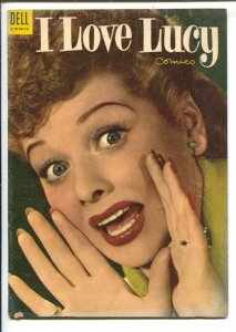 I Love Lucy #3 1954-Lucille Ball Photo cover=based on her TV seeries-FN
