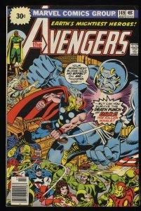 Avengers #149 FN+ 6.5 Marvel Comics Thor Captain America 30 Cent Variant!