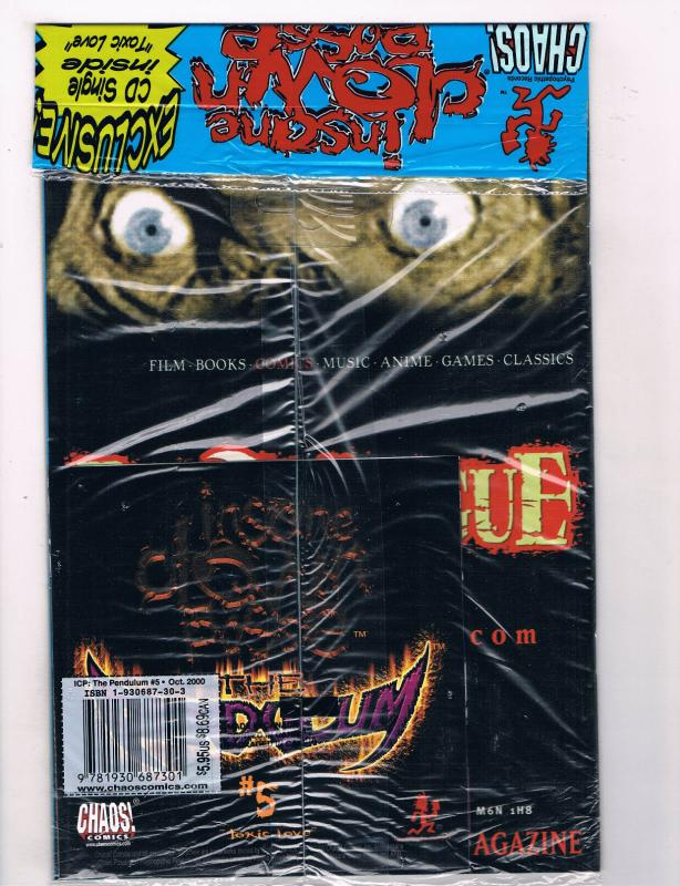 insane clown posse 5 of 12 fn chaos comics poly bag comic book oct