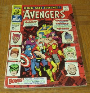 Avengers King Size Special #1 VG+ 1967 Silver Age Iron Man Thor Original/New Avg