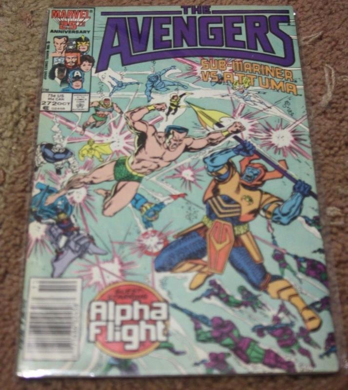 Avengers # 272 (Oct 1986, Marvel) alpha flight +thor captain america