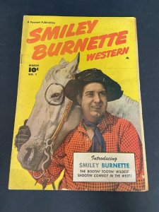 Smiley Burnette Western 1 GD/VG- (Fawcett Mar. 1950)
