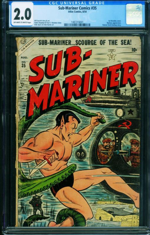 Sub-Mariner #35 CGC 2.0-1954-Atlas Superhero-Marvel 1487316001