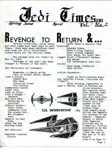 Jedi Times Vol. 7 #2 4/1983-rare Star Wars Fanzine-newsletter format-VG