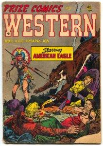 Prize Comics Western #106 1949- American Eagle- Golden Age G