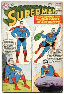 SUPERMAN-#137-TWO FACES OF SUPERMAN-SUPERBOY ON COVER VG