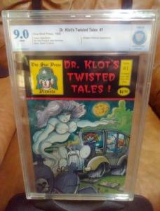 CBCS, 9.0 Dr. KLOT'S TWISTED TALES #1 MARK BODE COVER (PGX) (CGC) ONE SHOT PRESS