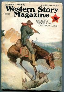 Western Story Magazine Pulp January 20 1923- Range Rider VG+