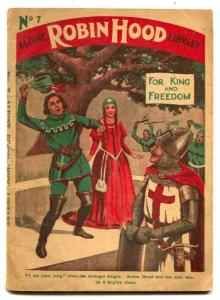 Robin Hood Library #7 Dime Novel- For King and Freedom