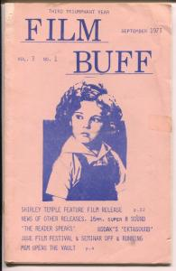 Film Buff Vol.3 #1 9/1973-Shirley Temple-historic info-VG
