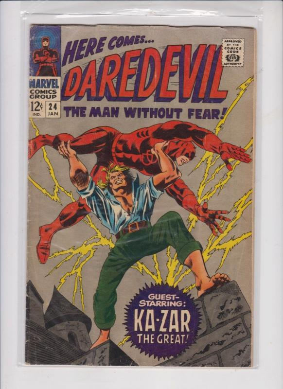 DAREDEVIL THE MAN WITHOUT FEAR V1 #24  1966  KAZAR THE GREAT