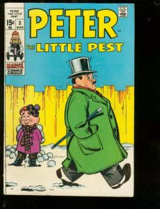 PETER THE LITTLE PEST #3 1970-MARVEL COMICS-JOE MANEELY VG