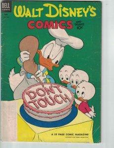 Walt Disney's Comics and Stories #153 subscription variant - donald duck - Dell