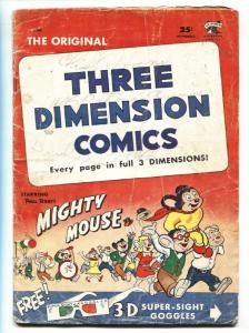 Mighty Mouse -Three Dimension Comics #2 1953 St John Golden Age g
