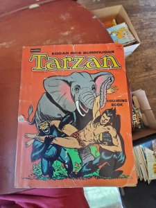 Tarzan coloring/comic read description
