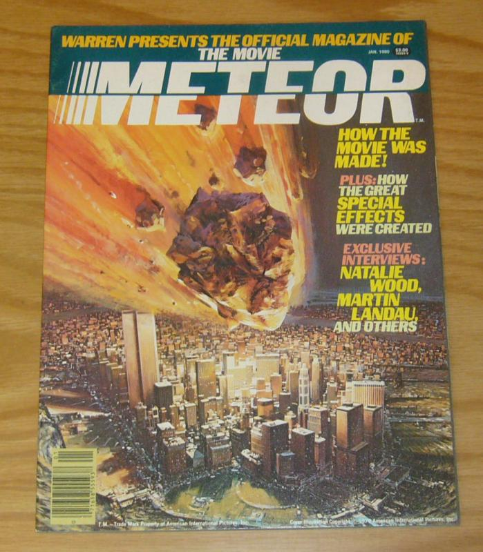 Meteor #1 FN official movie magazine - natalie wood & martin landau interviews