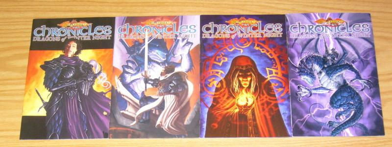 Dragonlance Chronicles: Dragons of Winter Night #1-4 VF/NM complete series RARE