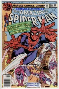 Amazing SPIDER-MAN #186, VF, Chameleon, Marv Wolfman, 1963, Keith Pollard