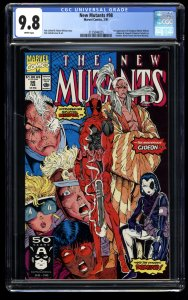 New Mutants #98 CGC NM/M 9.8 White Pages 1st Deadpool!
