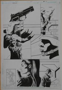 PAUL GULACY / JIMMY PALMIOTTI original art, RELOAD #3 pg 14, Hitwoman, Signed