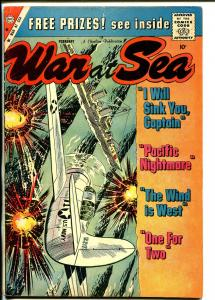 War at Sea #34 1960-Charlton-battle cover-Sam Glanzman-VG