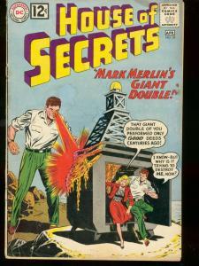 HOUSE OF SECRETS #53 1962 DC COMICS MARK MERLIN'S GIANT G/VG