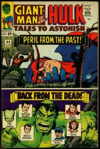 Tales to Astonish #68 1965-- Hulk- Giant Man- silver age VF-