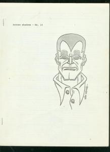 BRONZE SHADOWS #14 1968-PULP FANZINE-DOC SAVAGE-F COOK VG