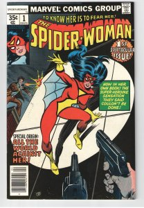 SPIDERWOMAN #1(1978)  NM 9.2;ORIGIN;NEW COSTUME;JESSICA DREW